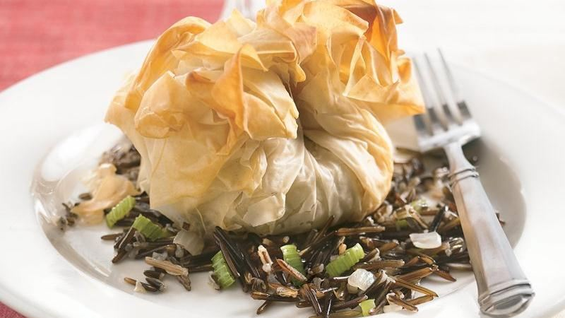 Chicken Phyllo Bundles