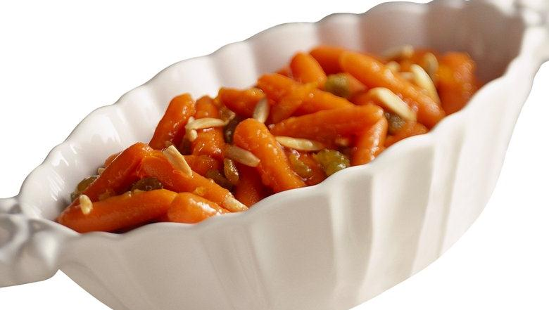 Orange and nuts glazed carrots in a zesty side dish - ready in just 20 ...