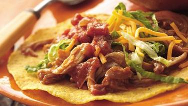 Slow-Cooker Mexican Chicken Tostadas (Cooking for Two)