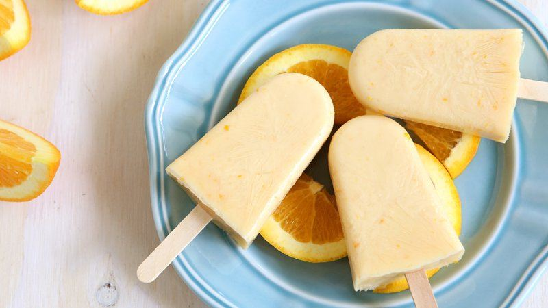 Orange-Yogurt Pops