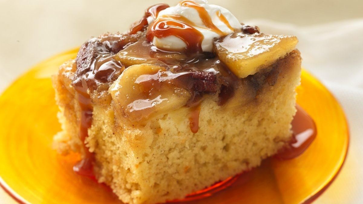 Warm Caramel Apple Cake - Life Made Delicious