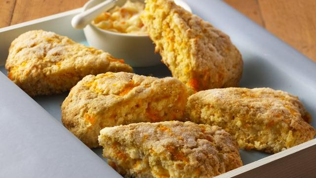 Double-Orange Scones with Orange Butter