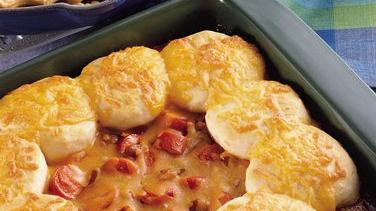 Beans and Wiener Biscuit Casserole