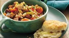 Slow Cooker Smoky Ham and Navy Bean Stew Recipe