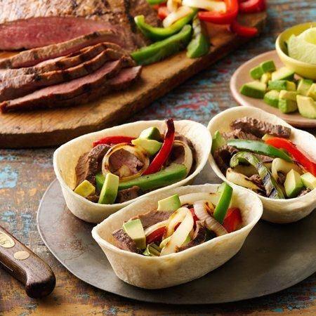 grilled steak fajita boats