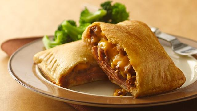 Bologna and Chili Crescent Sandwiches