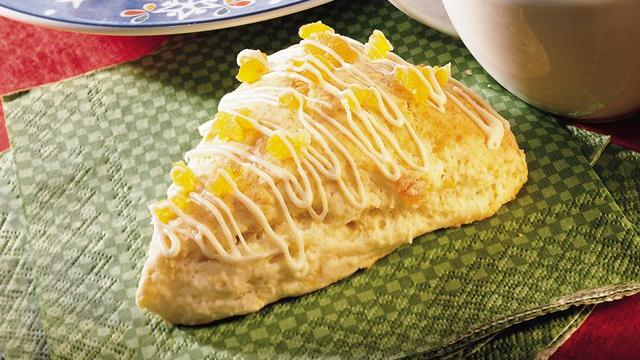 Image of Apricot Scones With White Chocolate Drizzle, Pillsbury