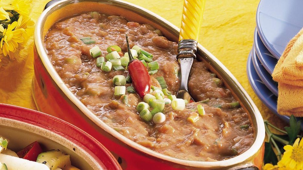 Taco-Tomato Refried Beans