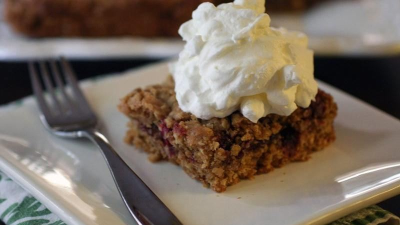 Cranberry-Pomegranate-Oatmeal Squares