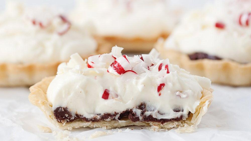 Mini White Chocolate and Peppermint Tarts