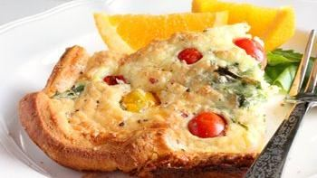 Make-Ahead Tomato-Croissant Quiche