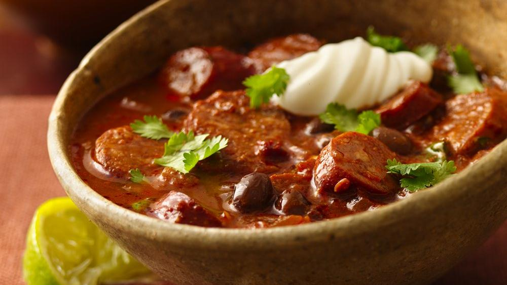 Hot and Spicy Chorizo Chili