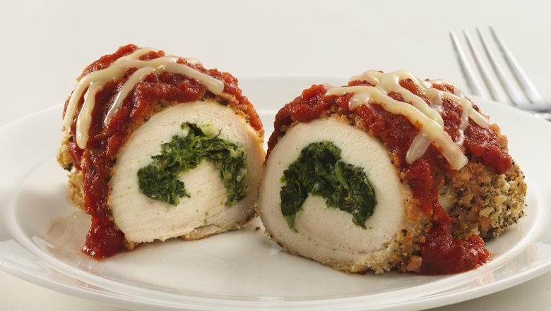 Healthified Stuffed Chicken Parmesan