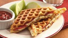 Waffled Pizza Dippers Recipe