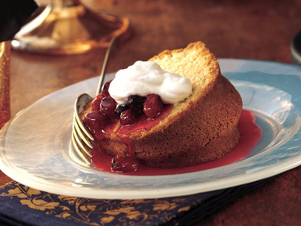 Image of Almond Pound Cake With Cherry-berry Sauce, Betty Crocker