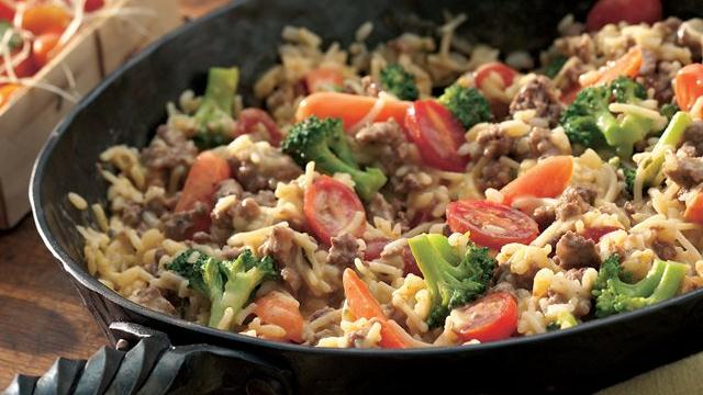 Beefy Rice Skillet