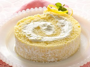 Lemon Cream Rolled Cake