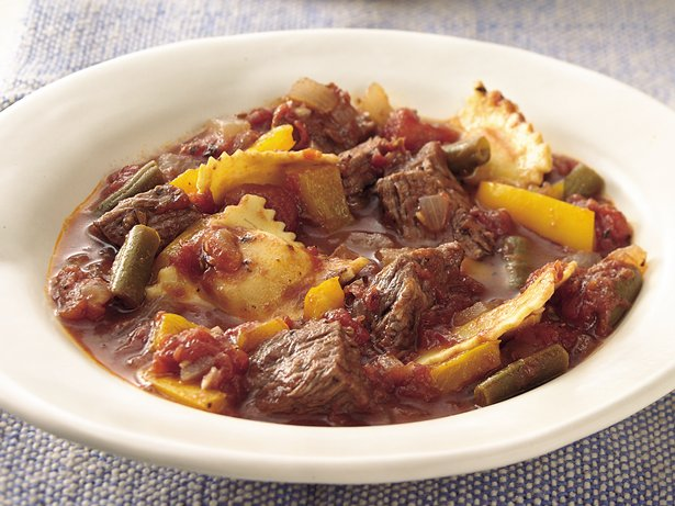 Italian Beef and Ravioli Stew