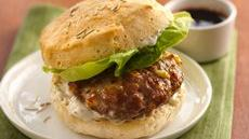 Savory Turkey Burgers with Pomegranate Molasses Recipe