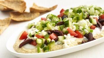 Healthified Greek Layered Dip