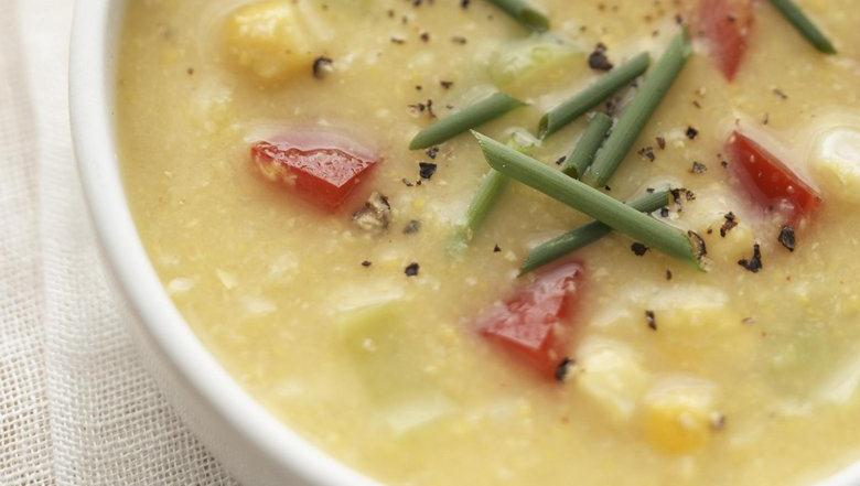 Healthified Southwestern Corn Chowder