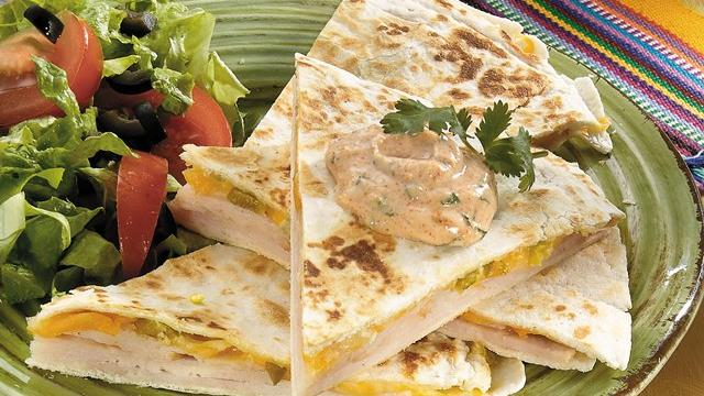 Turkey-Jalapeo Quesadillas