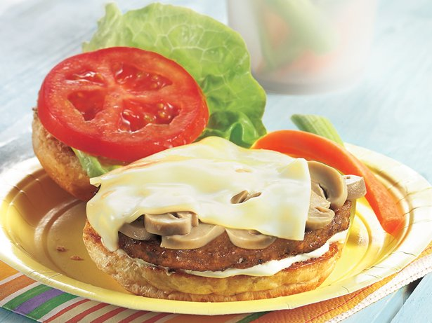 Mushroom-Swiss Veggie Burgers