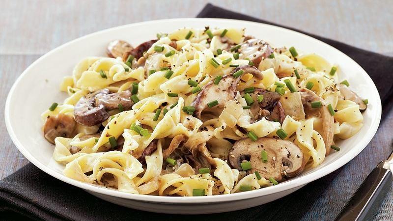 Mushroom Stroganoff recipe from Betty Crocker