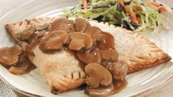 Hot Beef and Mushroom Turnovers