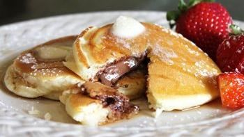Chocolate-Stuffed Pancakes