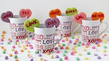 Conversation Heart Mug Cookies