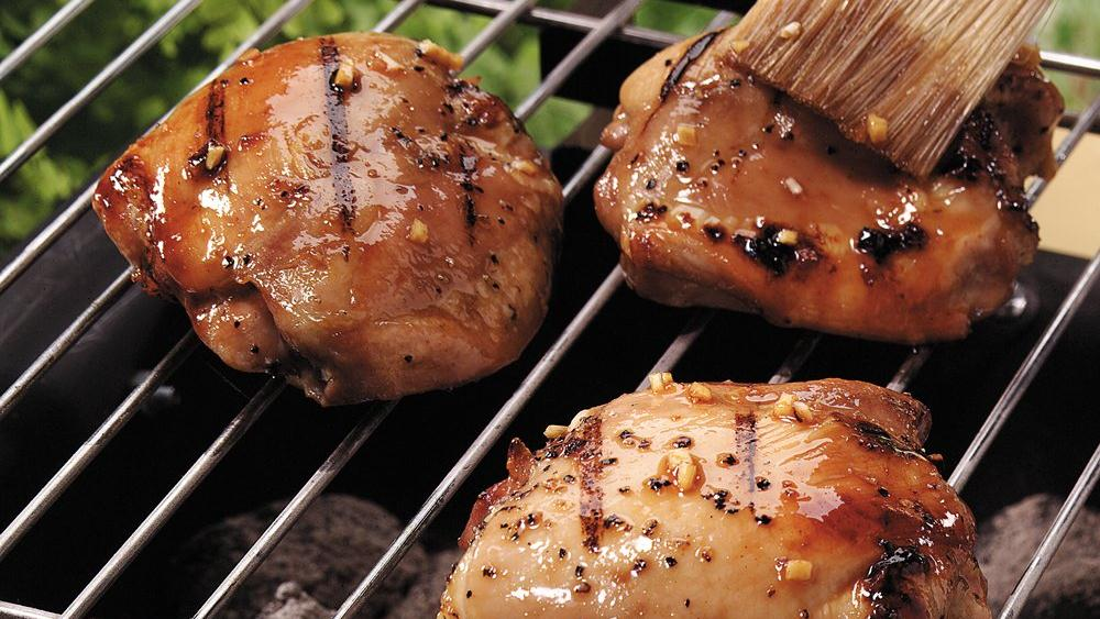 Honey-Glazed Grilled Chicken Thighs recipe from Pillsbury.com