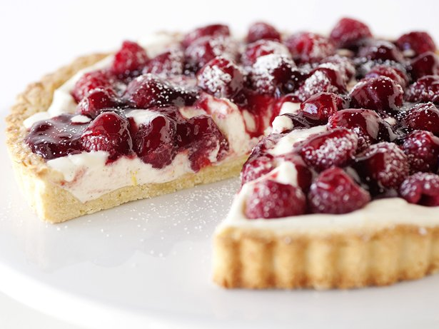 Vanilla Bean and Raspberry Tart