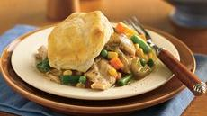 Slow Cooker Biscuit Chicken Pot Pie Recipe