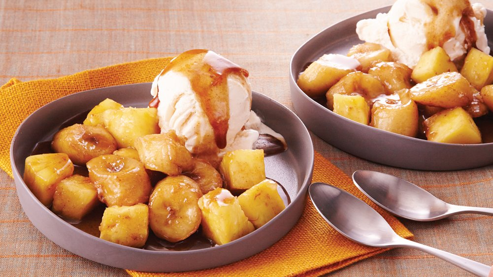 Slow-Cooker Tropical Bananas Foster