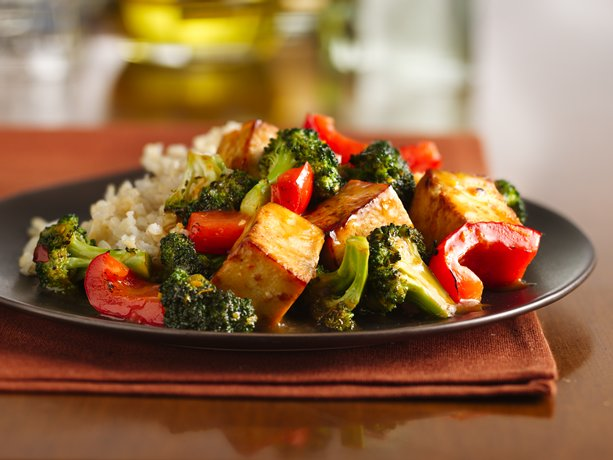 Orange-Sesame Tofu with Broccoli