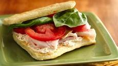 Mini Turkey-Basil Sandwiches Recipe