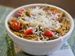 Pasta with Parsley-Walnut Pesto and Pear Tomatoes