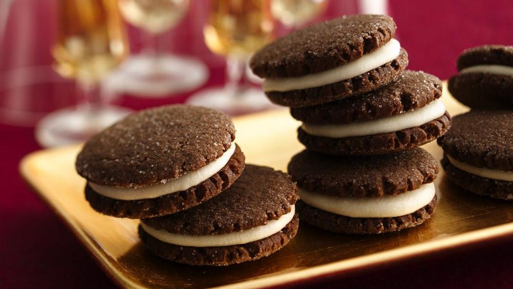 Chocolate Gingerbread Sandwich Cookies recipe from Pillsbury.com