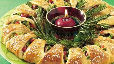 Veggie-Stuffed Holiday Crescent Wreath