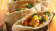 Scrambled Egg and Veggie Pockets Recipe