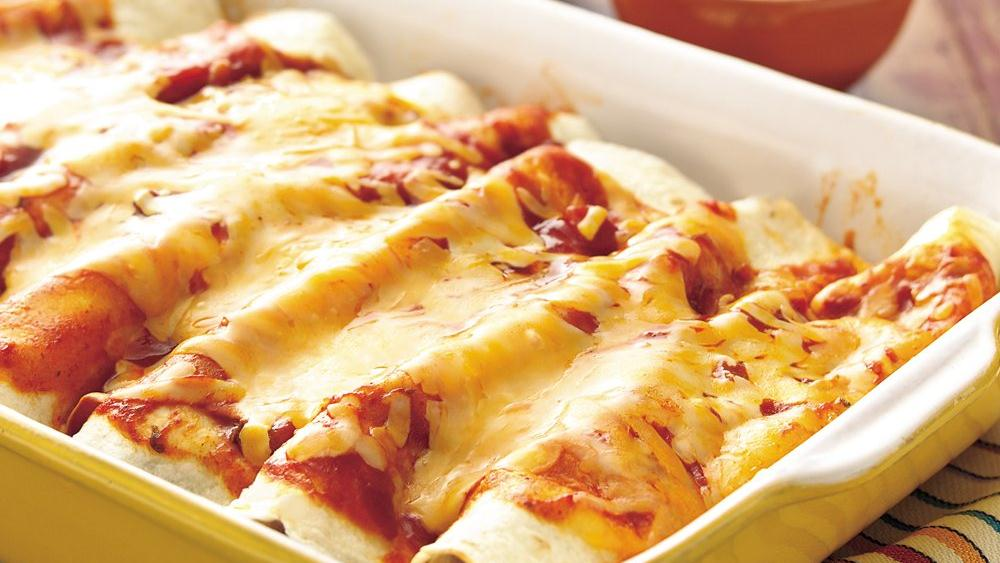 Spinach and Beef Enchiladas