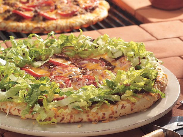 Grilled Taco Pizzas