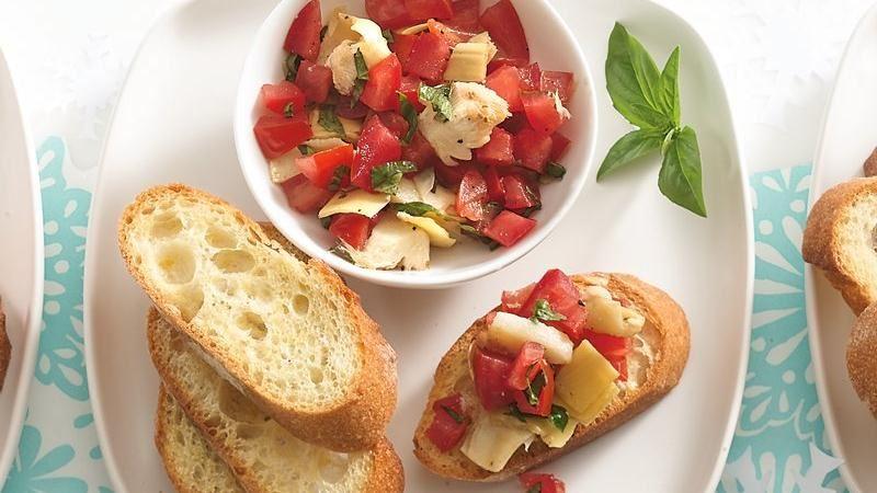 Tomato-Artichoke Crostini