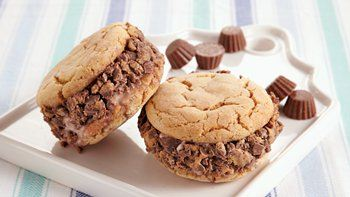 PB-Chocolate Ice Cream Sandwiches