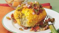 Breakfast Biscuit Cups with Green Chile Salsa Recipe