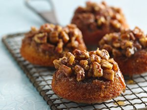 Gluten&#32;Free&#32;Sticky&#32;Pecan&#32;Caramel&#32;Fig&#32;Cakes