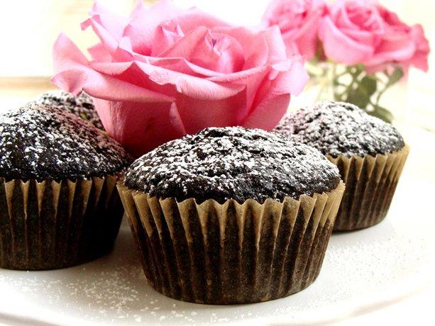 Chocolate con aceite de oliva Cupcakes