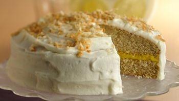 Lemon Filled Coconut Cake