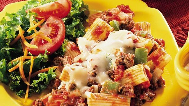 Beef Rigatoni Bake